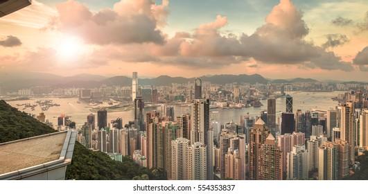 cityscape, Victoria Peak, Hong Kong