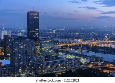 Cityscape of Vienna Austria at night