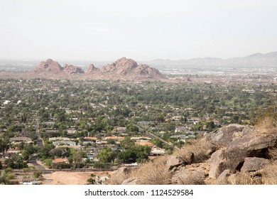Cityscape view from Camelback mountain in Scottsdale, Arizona