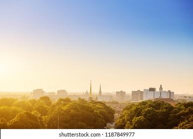 Cityscape view of Leipzig city, Saxony, Germany