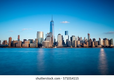 Cityscape view of Lower Manhattan , New York City