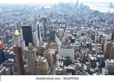 Cityscape view of Manhattan, New York City, USA