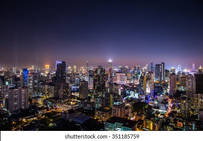 cityscape view in the night - can use for montage background product.