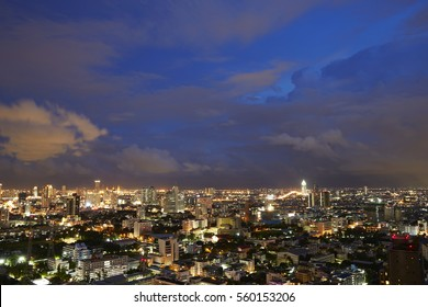 Cityscape view at the top view of Bangkok