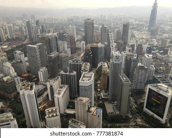 Cityscape view from the tower in Kuala Lumpur, Malaysia - December 2017