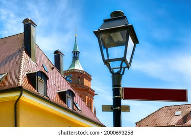 Cityscape of Weil der Stadt with street light and roofes, Wuerttemberg, Germany - Shutterstock ID 2000693258