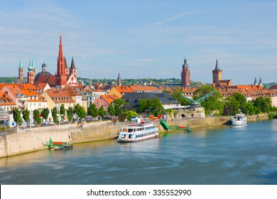 Cityscape of Wurzburg in a sunny summer day