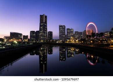 Cityscape of Yokohama MinatoMirai in Yokohama City, Kanagawa Prefecture, Japan.
