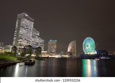 Cityscape of yokohama minatoMirai in yokohama city,kanagawa prefecture,japan.yokohama minatoMirai is an area facing yokohama port
