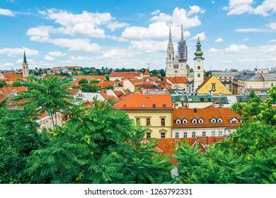 Cityscape of Zagreb (Croatia)