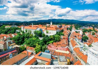 Cityscape of Zagreb (Croatia), urban capture