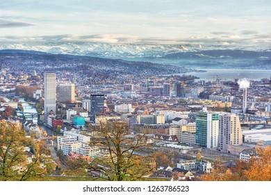 Cityscape of Zurich (Switzerland)