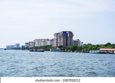 Cityscapes of Kochi city, Kerala, India.