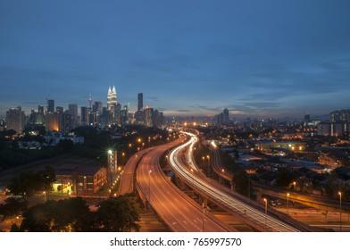 Cityscapes of Kuala Lumpur at Night