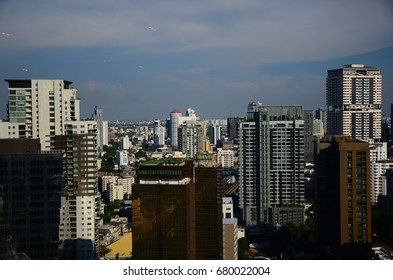 Cityscapes View of the skyscrapers and buildings in Bangkok area.