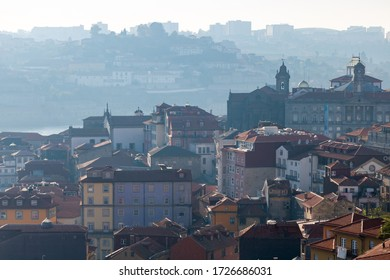Cityskape in the city of Oporto