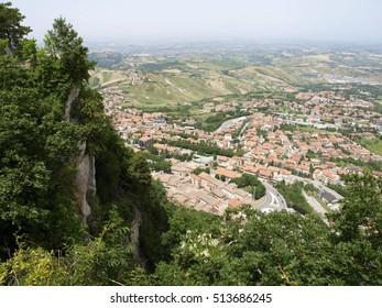 Cityspape view from top, San Marino