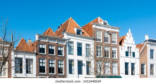 Cityview of houses in Middelburg
