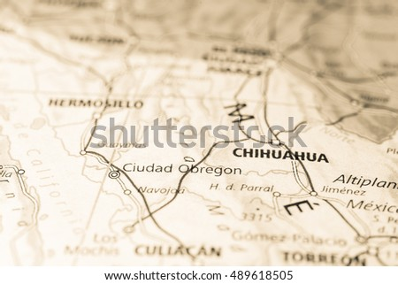 Obregon Mexico Map.Ciudad Obregon Mexico Stock Photo Edit Now 489618505 Shutterstock