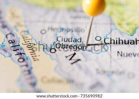 Obregon Mexico Map.Ciudad Obregon Mexico Stock Photo Edit Now 735690982 Shutterstock