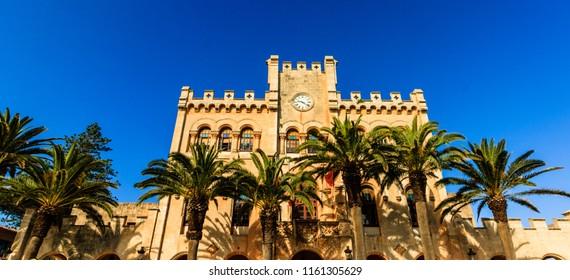 Ciutadella, Menorca city Town Hall in Ciudadela in the Balearic Islands.