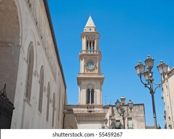 Civic Tower Clock. Altamura. Apulia.