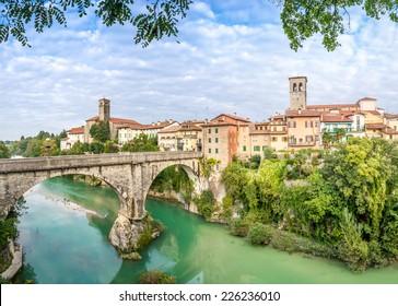 Cividale del Friuli with river and Devils bridge