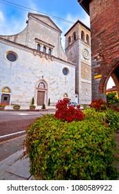 Cividale del Friuli square and church view, Friuli-Venezia Giulia region of Italy