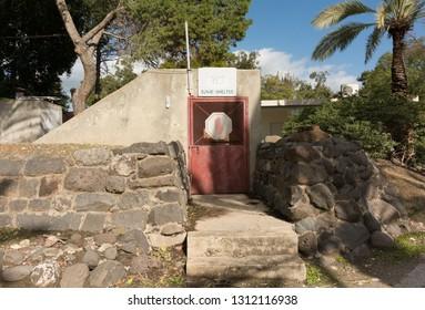 civil bomb shelter entrance door