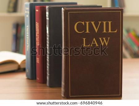 civil law books on desk law stock photo edit now 696840946