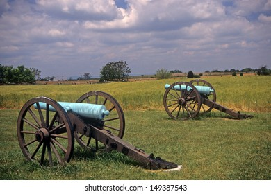 Civil War cannon at the Antietam National Battlefield, American  Civil War,Maryland