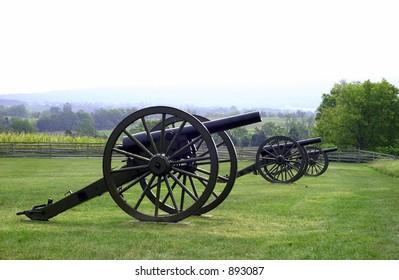 Civil War cannon at Gettysburg, PA battlefield