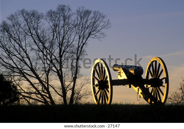 Civil War cannon on Manassas (Bull Run) battlefield, Manassas, Virginia