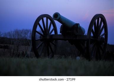 Civil War cannoon on the Massassas (Bull Run) battlefield, near Manassas, Virginia
