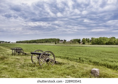 Civil War era cannons in the battlefields of Gettysburg, PA