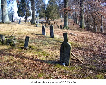 Civil War era graves in the woods of Appalachia