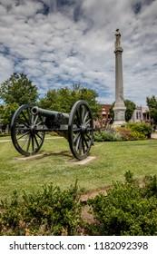 Civil war landmarks in historic Franklin, Tennessee