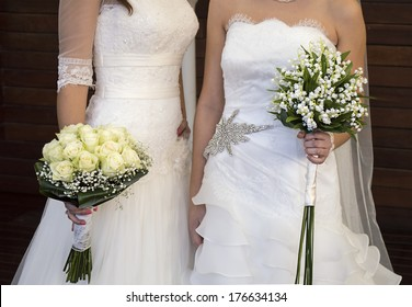 civil wedding of a lesbian couple