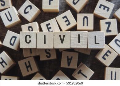 CIVIL word concept