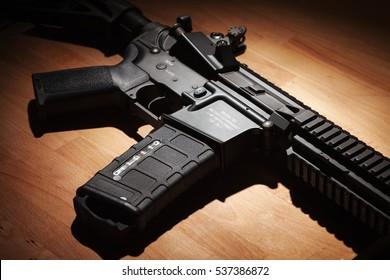 Civilian .223 caliber semi-automatic rifle