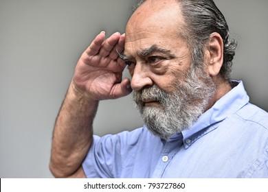 Civilian Retired Military Vet Saluting