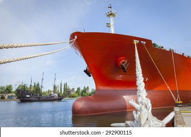 A civilian ship and the pirate ship