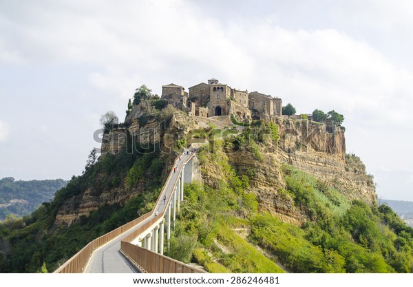 Civita Di Bagnoregio Town That Dying Stock Image Download Now