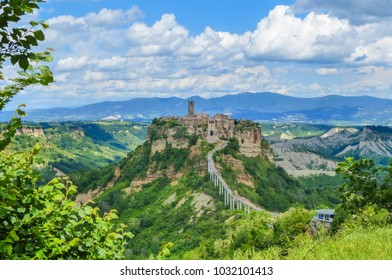 Civita di Bagnoregio (Viterbo, Lazio), central Italy - The famous ancient village on the hill between the badlands, in the Lazio region, central Italy, known as 'The town that is dying'