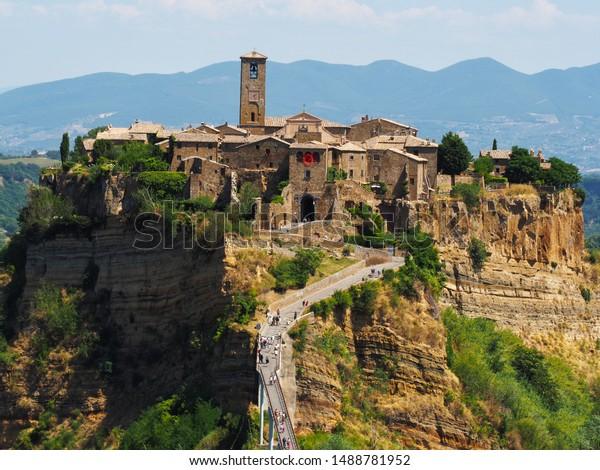 Civita Di Bagnoregio Viterbo Lazio Italy Stock Photo Edit Now