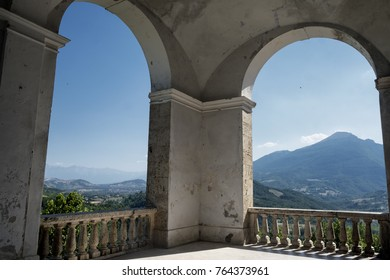 Civitella del Tronto (Teramo, Abruzzi, Italy), medieval town: landscape