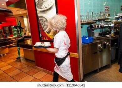 Halloween At Pizza Hut Images Stock Photos Vectors