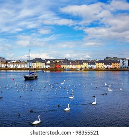 The Claddagh in Galway city during summertime, Ireland.