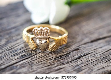 A Claddagh Ring of Irish a traditional ring for love and true love