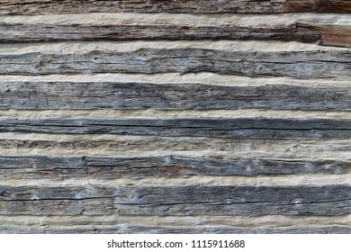 Cladding - detail of the wall of an old half-timbered cottage
